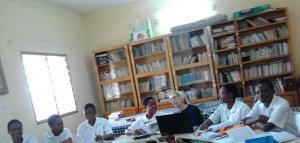 Sesión de Historia de la Congregación en el Noviciado de Ouagadougou-Burkina Faso