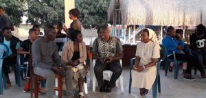 Encontro com os jovens na comunidade de Inhambane